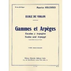 Gammes et arpèges HAUCHARD 2er cahier