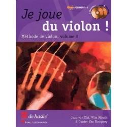 Je joue du violon vol 3 avec CD  Jaap VAN ELST, Wim MEURIS