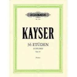 36 études KAYSER opus 20