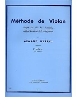 Méthode de violon Armand MASSAU vol 1