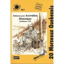 Planet accordéon 20 morceaux québécois facile avec CD