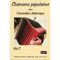 Chansons populaires pour l'accordéon diatonique Yanna DOUR avec CD vol 2