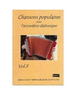Chansons populaires pour l'accordéon diatonique Yann DOUR avec CD vol 3