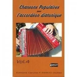 Chansons populaires pour l'accordéon diatonique Yann DOUR avec CD vol 4