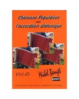 Chansons populaires pour l'accordéon diatonique Yann DOUR avec CD vol 6