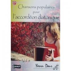 Chansons populaires pour l'accordéon diatonique Yann DOUR avec CD vol 7