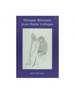 Musique bretonne pour harpe celtique NICOLAS avec CD vol 1