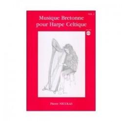 Musique bretonne pour harpe celtique NICOLAS avec CD vol 2