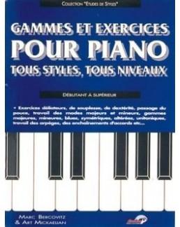 Gammes et exercices pour piano Bercovitz-Mickaëlian