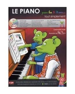 Le piano pour les 5-8 ans tout simplement avec CD Astié