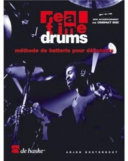 """Real time drums """"méthode de batterie pour débutants"""" vol 1 avec CD"""
