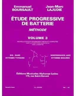 Etude progressive de la batterie BOURSAULT-LAJUDIE vol 3