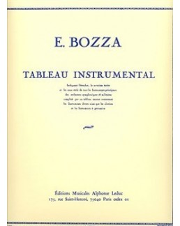 Tableau instrumental Eugène BOZZA
