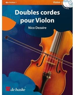 Double cordes pour violon DEZAIRE avec CD
