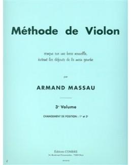 Méthode de violon Armand MASSAU vol 3