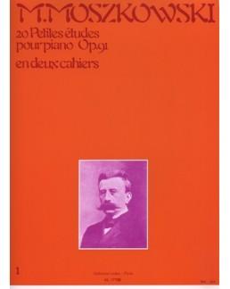Moszkowski 20 petites études opus 91 1er cahier