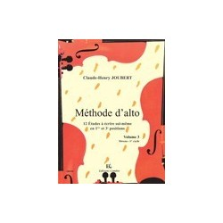 Méthode d'alto Claude-Henri Joubert vol 3