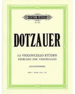 113 études Dotzauer vol 1 violoncelle