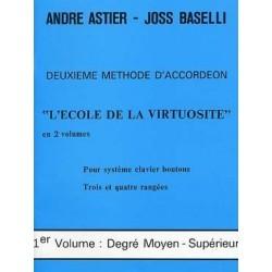 Deuxième méthode d'accordéon ASTIER BASELLI