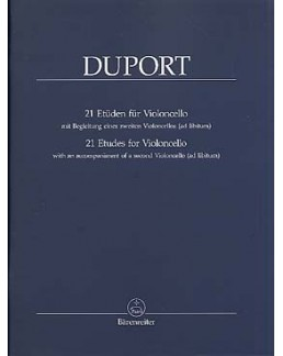 Duport 21 études pour violoncelle