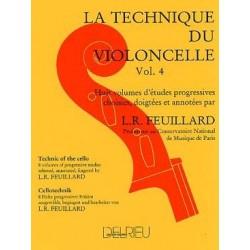 Feuillard la technique du violoncelle vol 4