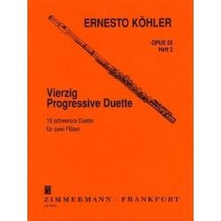Köhler 40 progressive duette op. 55 vol 2 (2 flûtes)
