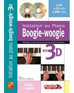 Initiation au piano boogie-woogie en 3D Minvielle CD+DVD