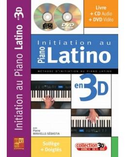 Initiation au piano latino en 3D Minvielle CD+DVD