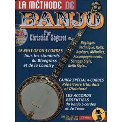 Méthode de banjo Christian Seguret avec CD