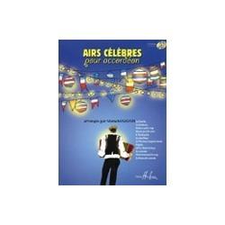Airs célèbres pour accordéon Manu Maugain avec CD