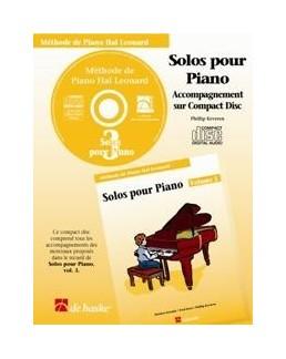 CD accompagnement solos hal leonard volume 3