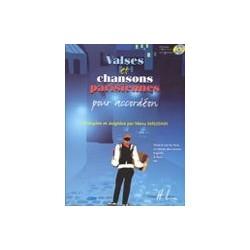 Valses et chansons parisiennes pour accordéon Manu Maugain avec CD