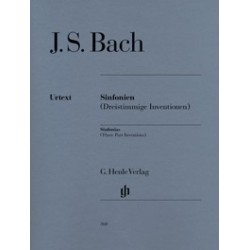 Sinfonies BWV 787-801 Bach (inventions à 3 voix)