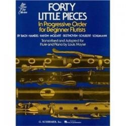 40 little pieces Moyse flûte