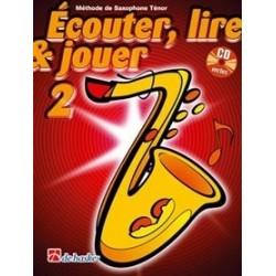Ecouter, lire & jouer saxophone tenor vol 2 avec CD