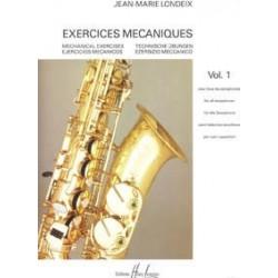 Londeix exercices mécaniques vol 1 saxophone