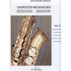 Londeix exercices mécaniques vol 2 saxophone