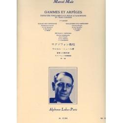 Gammes et arpèges Marcel Mule saxophone