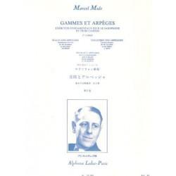 Gammes et arpèges Marcel Mule vol 2 saxophone