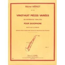 Mériot michel 28 pièces variées saxophone