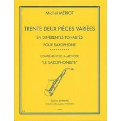Mériot Michel 32 pièces variées saxophone