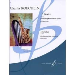 Koechlin 15 études pour saxophone alto et piano