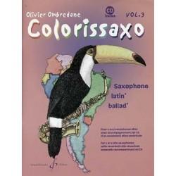 Colorissaxo vol 3 avec CD Olivier Ombredane