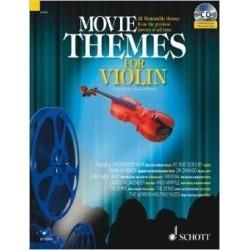 Movie themes for violin avec CD