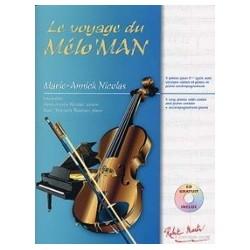 Le voyage du mélo'man violon piano avec CD