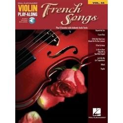 Violin Play-Along Volume 44 - French Songs avec audio en téléchargement