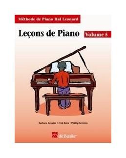 Leçons de piano HAL LEONARD vol 5
