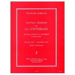 Nouvelle technique de contrebasse F. Rabbath Volume 2