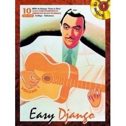 REINHARDT Django Easy Django Vol.1 Guitare tablatures / Partition + CD