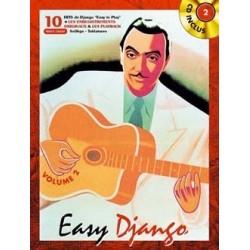 REINHARDT Django Easy Django Vol.2 Guitare tablatures / Partition + CD